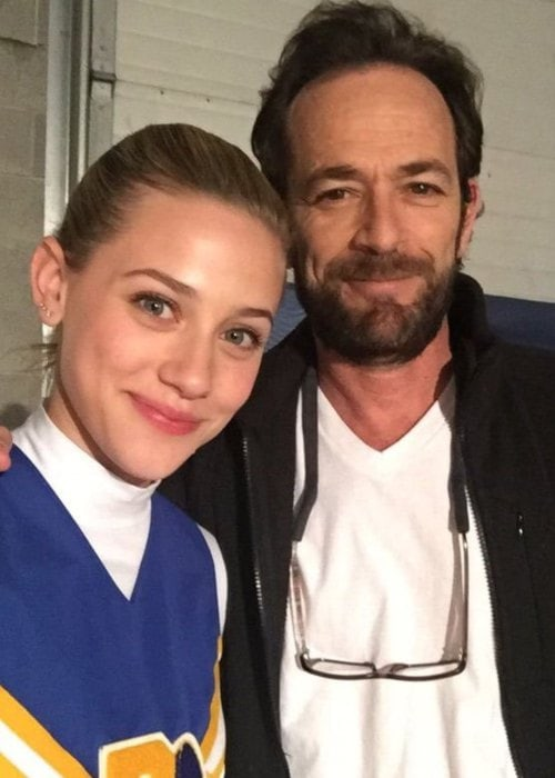 Luke Perry and Lili Reinhart in a selfie in May 2018