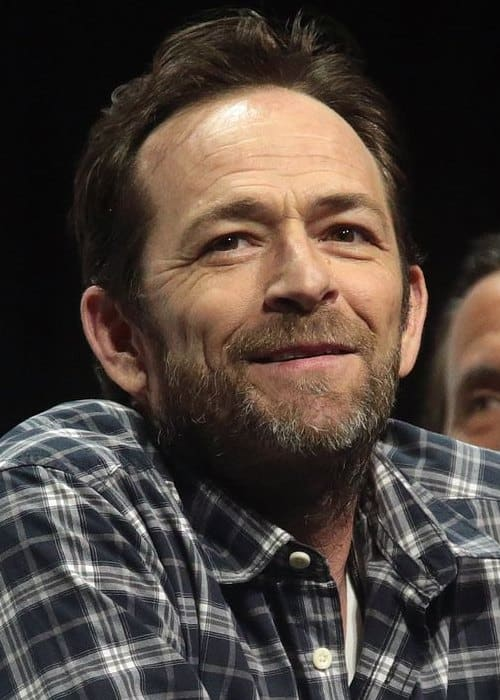 Luke Perry speaking at the 2017 WonderCon