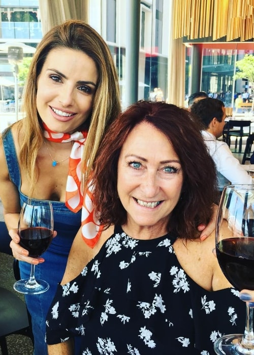 Lynne McGranger (Right) enjoying a birthday lunch with Ada Nicodemou in January 2018