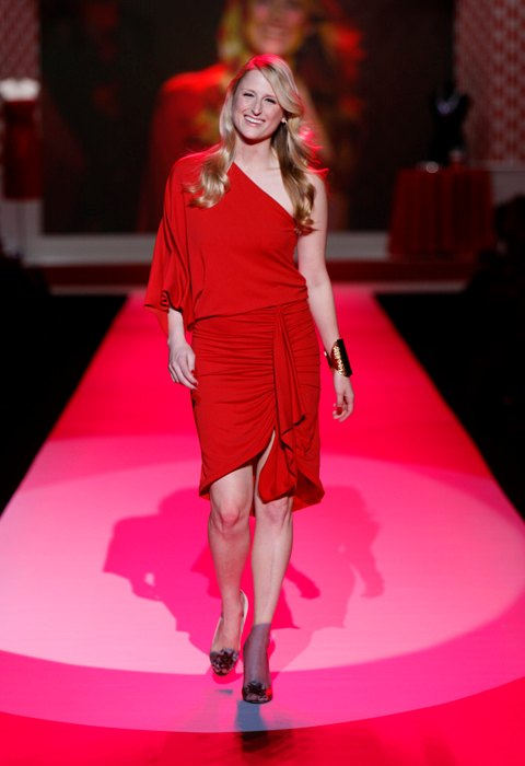 Mamie Gummer at The Heart Truth's Red Dress Collection in February 2010