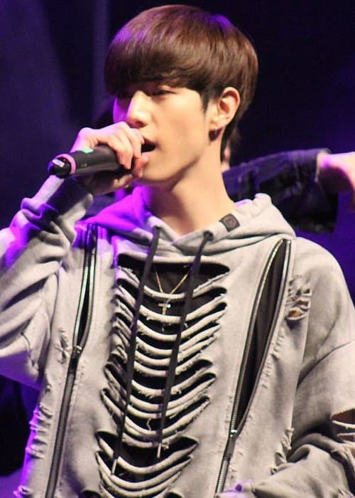 Mark Tuan during a fan meeting in December 2016