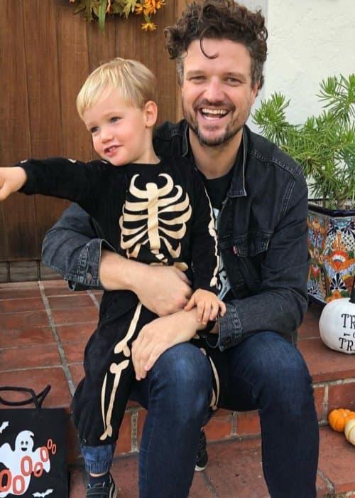Matt Jones in an Instagram post with his son as seen in November 2018