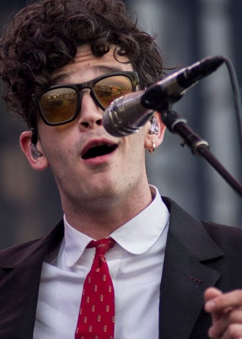 Matthew Healy during a performance at Lollapalooza Chile Fest in April 2017