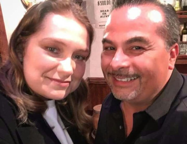Merritt Wever and Tony Miros in a selfie in May 2018