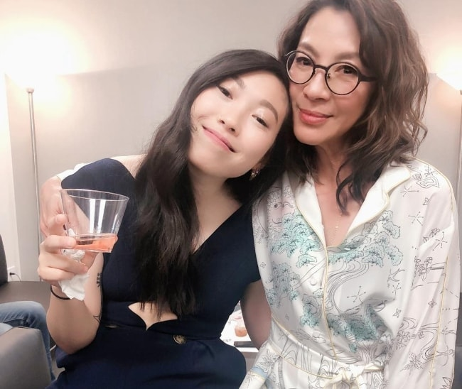Michelle Yeoh (Right) with Awkwafina in October 2018