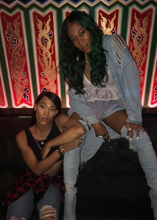 Mj Rodriguez (Left) with Mila Jam in August 2018