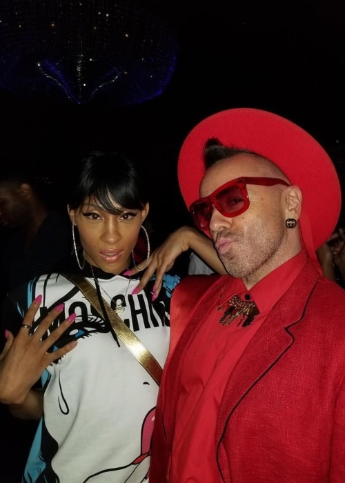Mj Rodriguez with Legendary Damon in August 2018