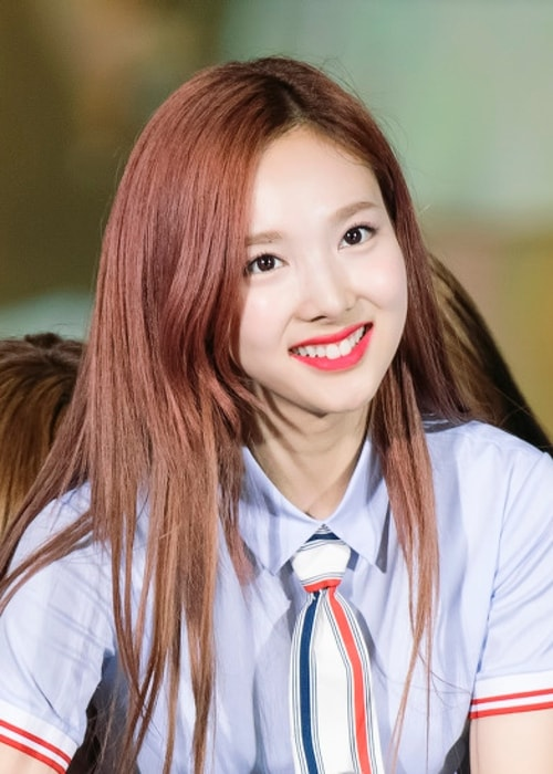 Nayeon as seen while smiling at Lotte Family Concert in May 2017