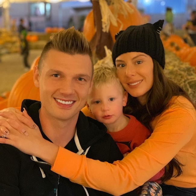 Nick Carter with his family in October 2018