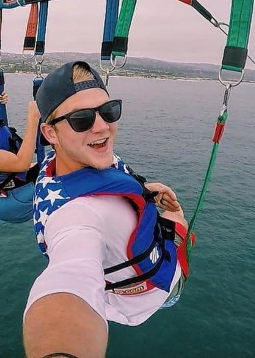 Parker Ferris in an Instagram selfie as seen in July 2016