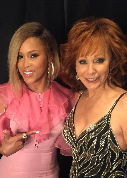 Reba McEntire (Right) with EVE in April 2018