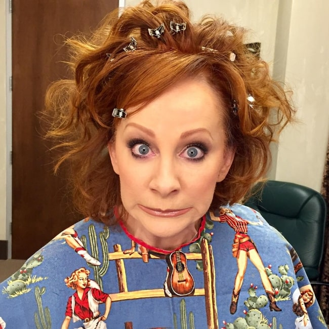 Reba McEntire in a goofy selfie in October 2017