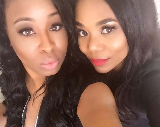 Regina Hall (Right) in a selfie with Corliss Kay in March 2017