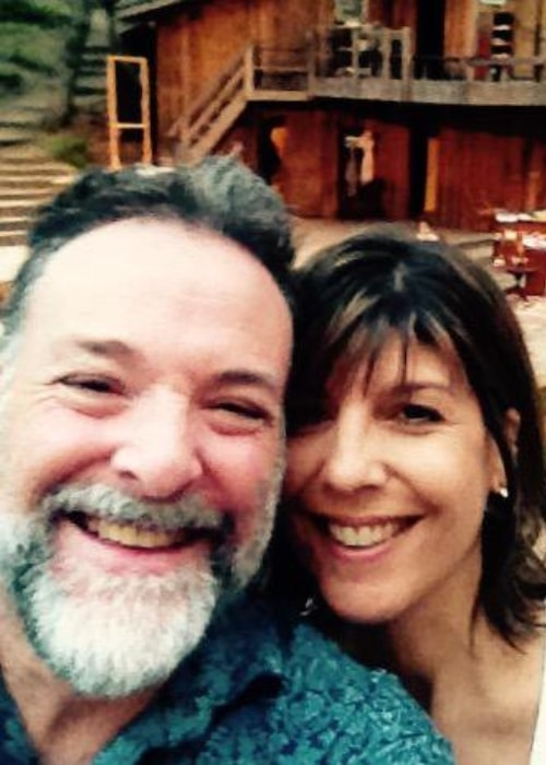 Richard Steven Horvitz in a selfie with Kristen Lazarian in July 2015