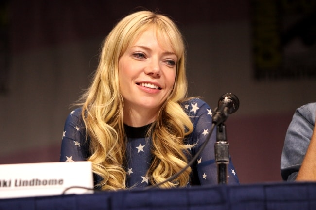 Riki Lindhome pictured while speaking at the 2013 WonderCon at the Anaheim Convention Center in Anaheim, California