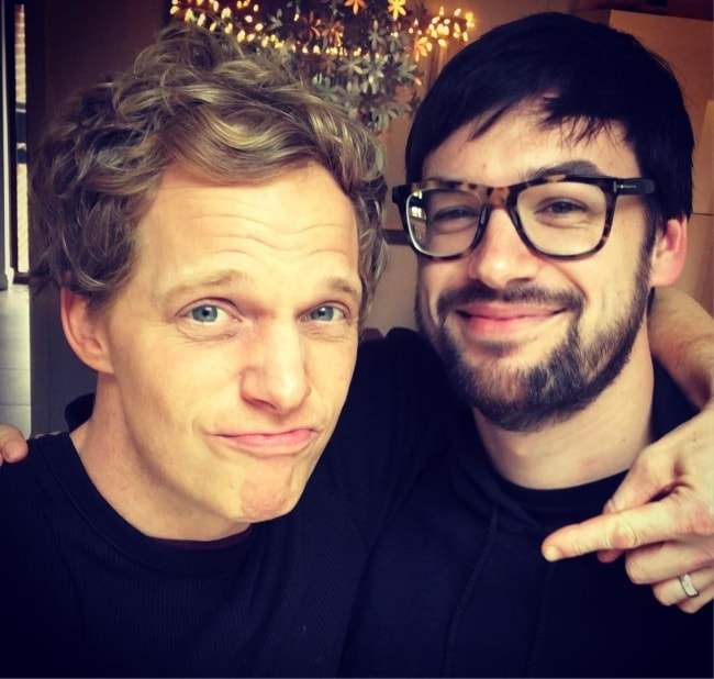 Ross MacDonald (Right) in a selfie with Chris Geere in March 2017