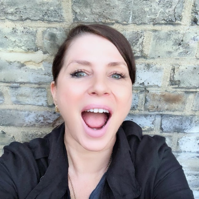 Sadie Frost in a selfie in August 2018