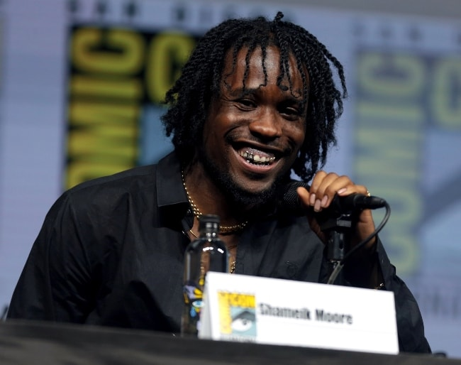 Shameik Moore as seen at the 2018 San Diego Comic-Con International