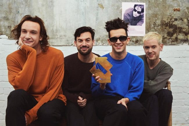 The 1975 in an Instagram post as seen in December 2018