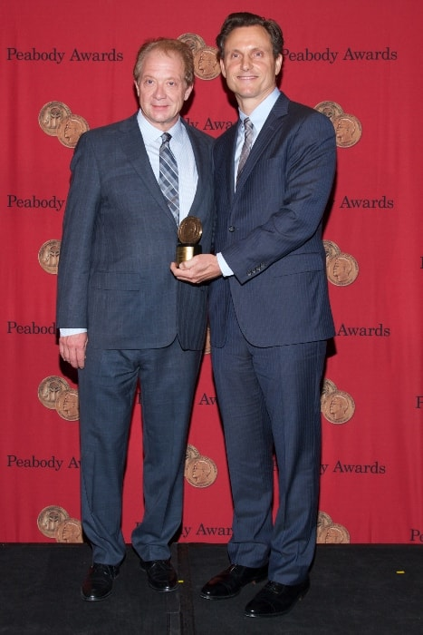 Tony Goldwyn (Right) and Jeff Perry with the Peabody Award in May 2014