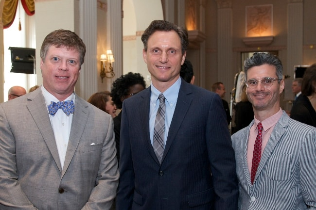 Tony Goldwyn with Evan Shapiro (Right) and Dr. Jeffrey P. Jones (Left) at the 73rd Annual Peabody Awards reception in June 2014