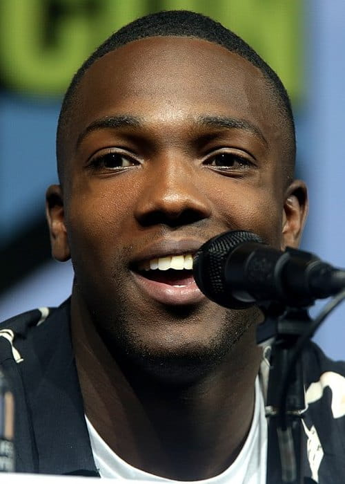 Tosin Cole speaking at the 2018 San Diego Comic-Con International