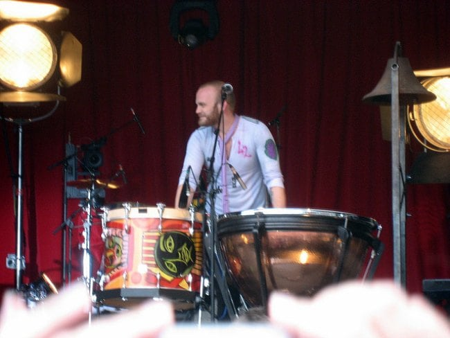 Will Champion during a performance as seen in June 2008