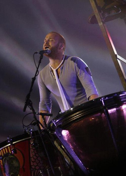 Will Champion during the band's 2008 tour Viva la Vida