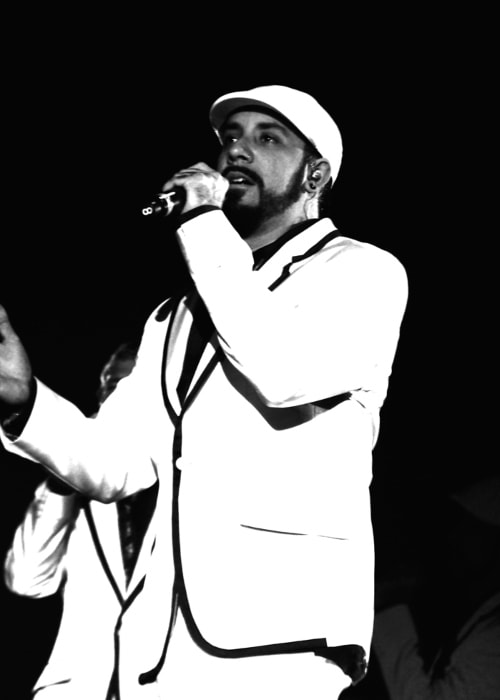 AJ McLean during one of his performances