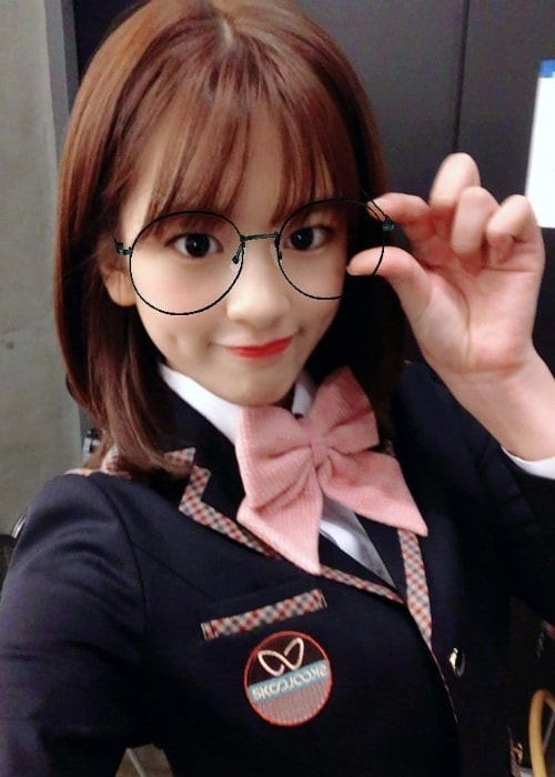 Ahn Yu-jin in a selfie in January 2019