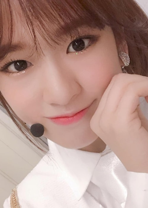 Ahn Yu-jin looking glamorous in a selfie in December 2018