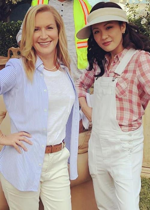 Angela Kinsey (Left) and Constance Wu as seen in September 2018
