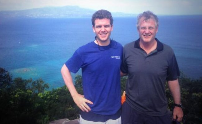 Austin Swift (Left) with his father as seen in January 2014
