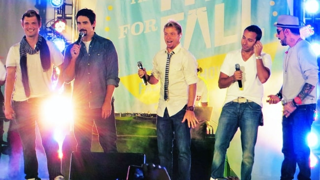 Backstreet Boys as seen while performing at Old Navy Fit For Fall Fashion Show in September 2012