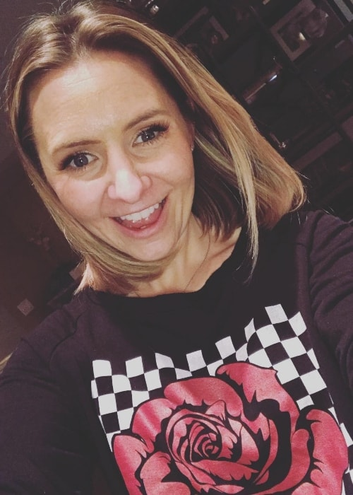 Beverley Mitchell in a selfie in January 2019