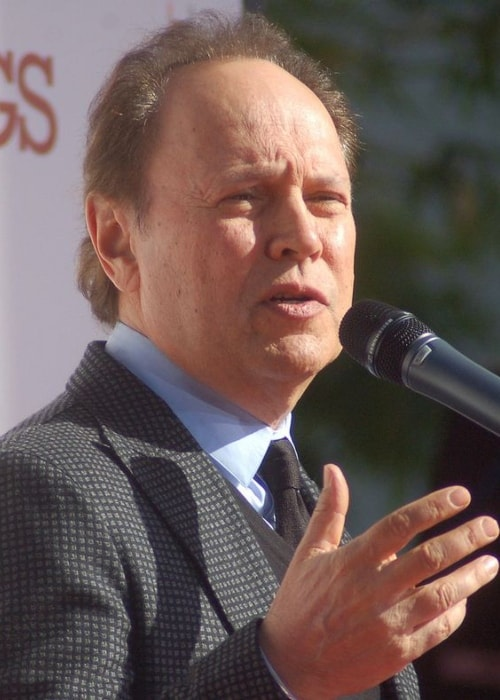 Billy Crystal while speaking at a ceremony for Robert DeNiro to have his hands and shoe prints placed in cement in front of TCL Chinese Theatre in February 2013