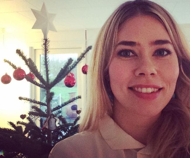 Birgitte Hjort Sørensen in a selfie in December 2015