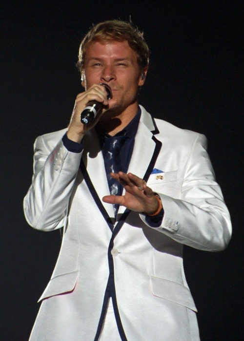 Brian Littrell as seen while performing at a show in April 2012