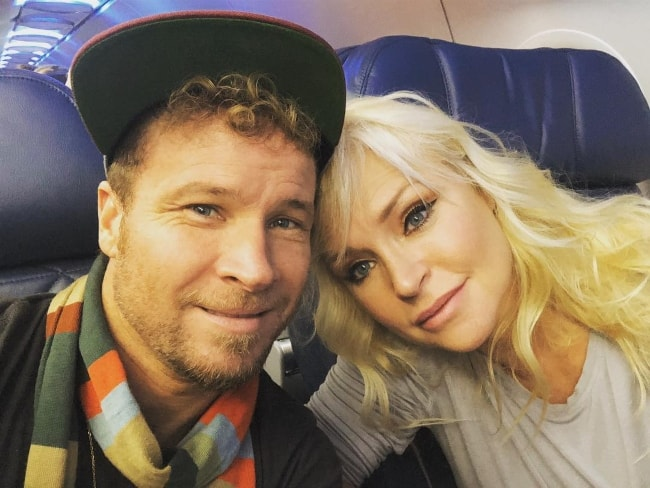 Brian Littrell in a selfie with Leighanne Wallace