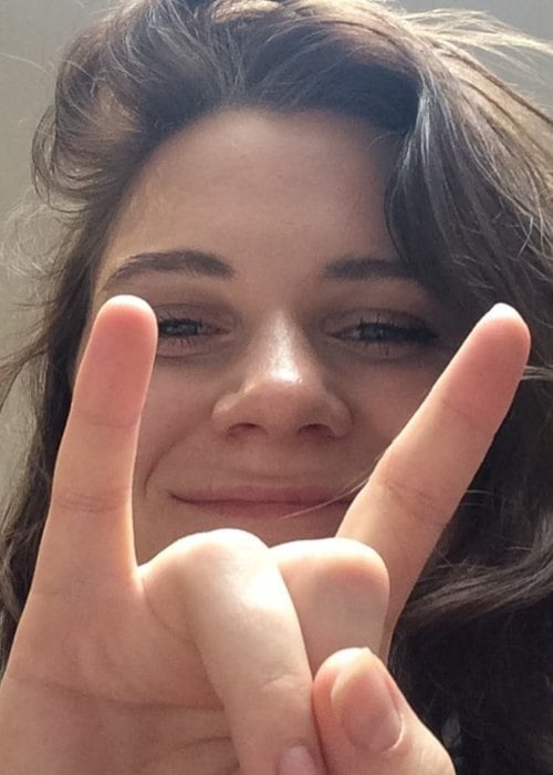 Brooke Bentham in a selfie as seen in October 2017