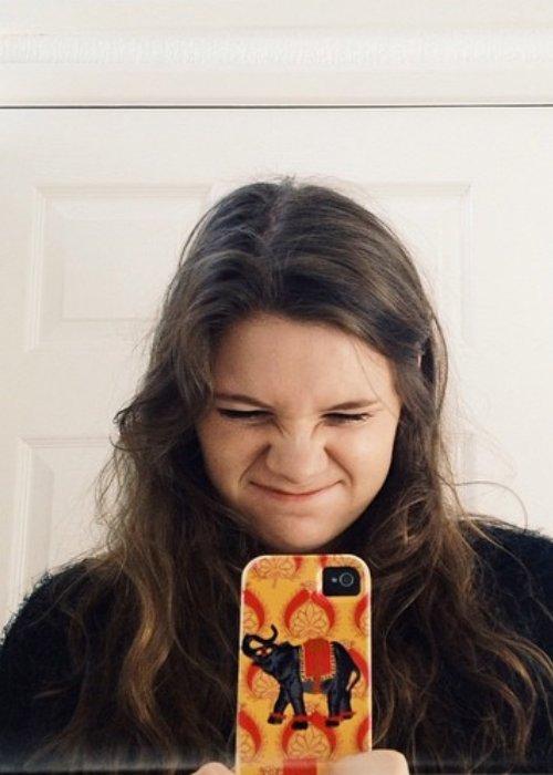 Brooke Bentham in a selfie in April 2014