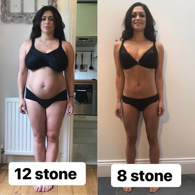 Casey Batchelor in before-and-after picture