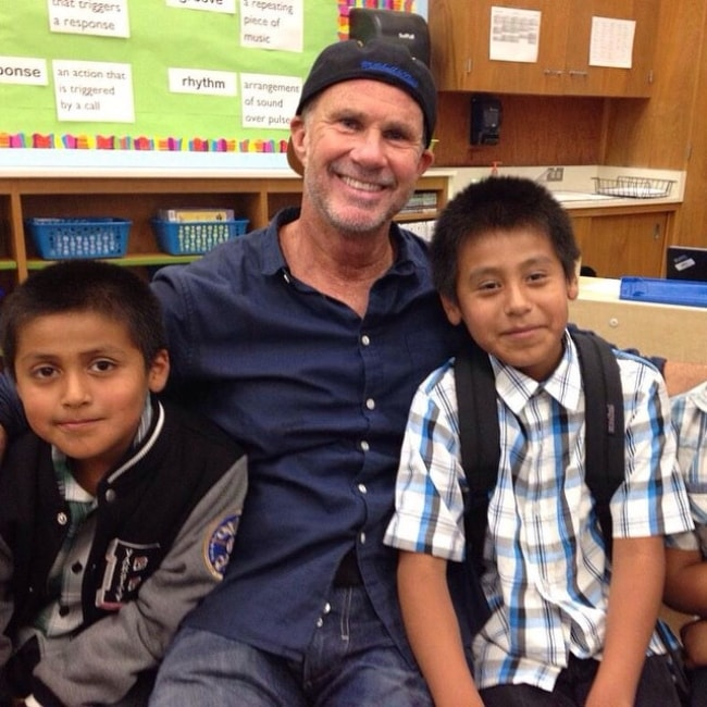 Chad Smith as seen while hanging out with students at Mary Chapa Academy in Monterey in November 2014