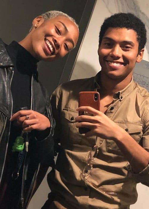Chance Perdomo and Tatiana Gabrielle Hobson in a selfie in December 2018