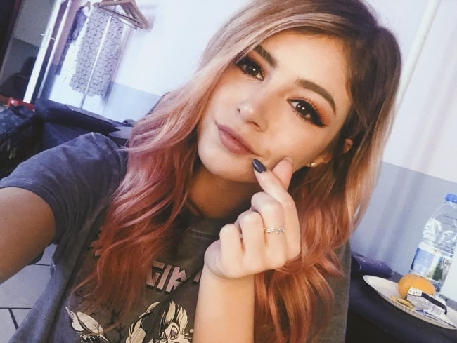 Chrissy Costanza in a selfie in October 2018