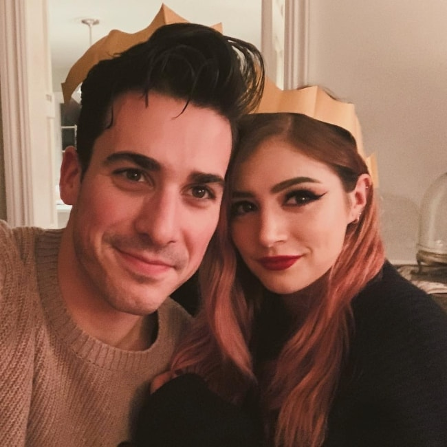 Chrissy Costanza with Cameron Hurley in December 2018