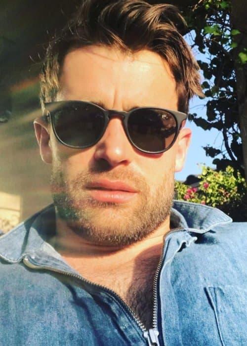 Christian Cooke in an Instagram selfie as seen in April 2018