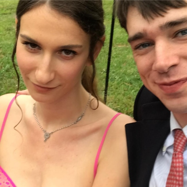 Cole Mohr in a selfie with Prisca Vera Franchetti in June 2018