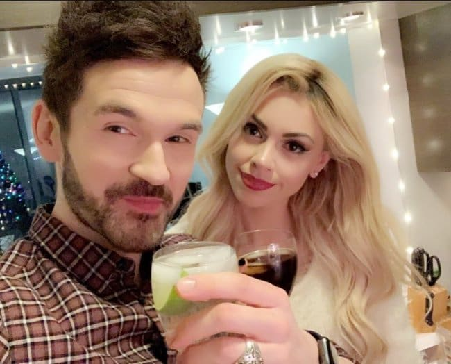 Colin Cloud and Chloe Louise Crawford in a selfie in December 2018