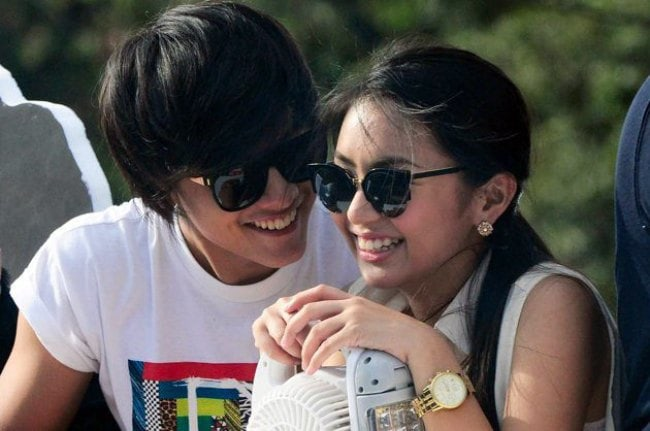 Daniel Padilla and Kathryn Bernardo as seen in November 2014